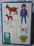 画像2: プレイモービルヤギと農夫3116 (2)