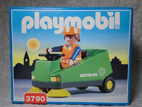 画像1: プレイモービル(道路清掃車)3790 (1)