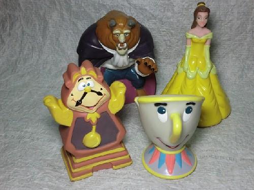 画像1: 美女と野獣・フィギュア・ピザハット (1)