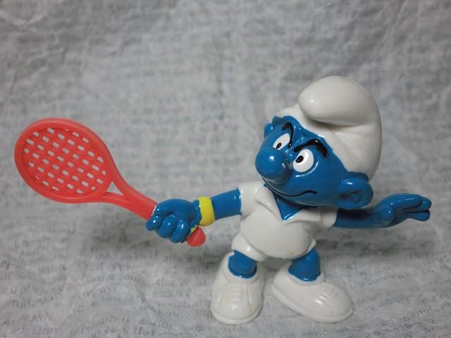 画像1: スマーフPVCテニス (1)