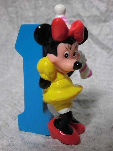 画像1: ミニーマウス1・ナンバー1PVCフィギュア (1)