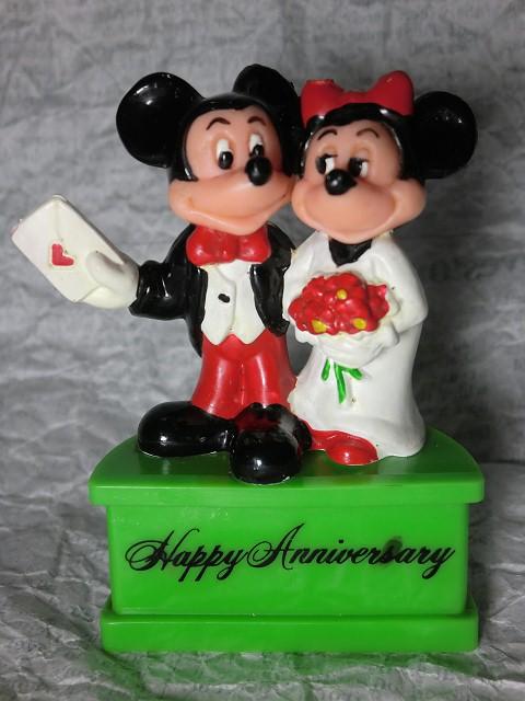 画像1: ミッキーマウス&ミニーマウス台付PVCフィギュア (1)