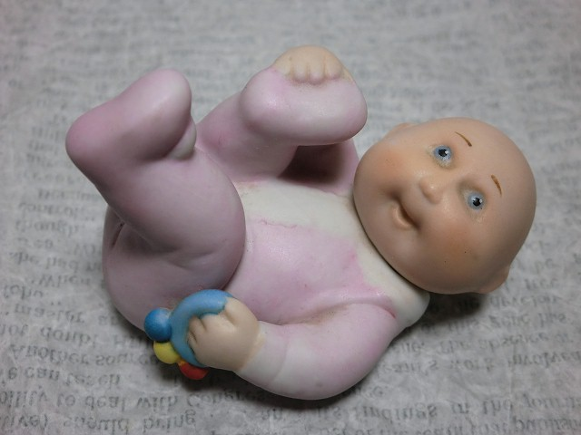 画像1: キャベツ人形フィギュア(ラトル) (1)