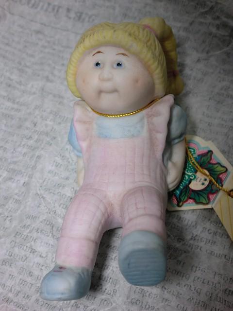 画像1: キャベツ人形磁器製フィギュア(しりもち) (1)