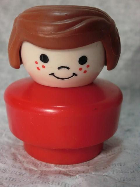 画像1: フィッシャープライス・リトルピープル女の子赤 (1)
