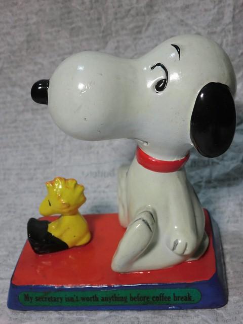 画像1: スヌーピー&ウッドストックフィギュア(タイプライター) (1)