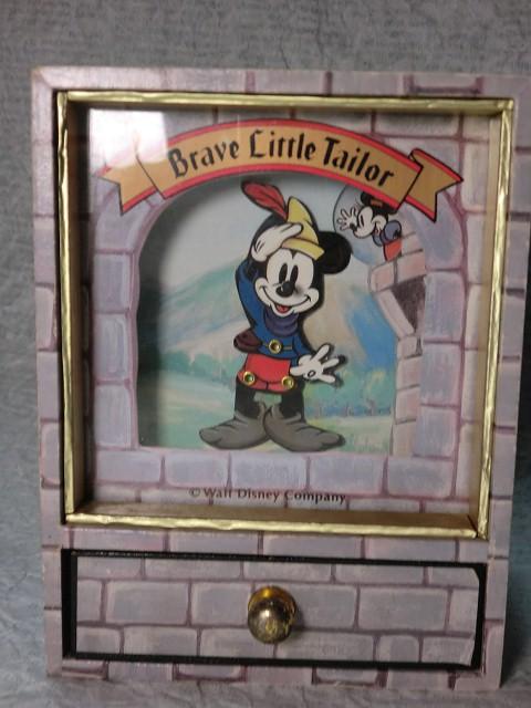 画像1: ミッキーマウス小引き出し付きオルゴール(BRAVE) (1)