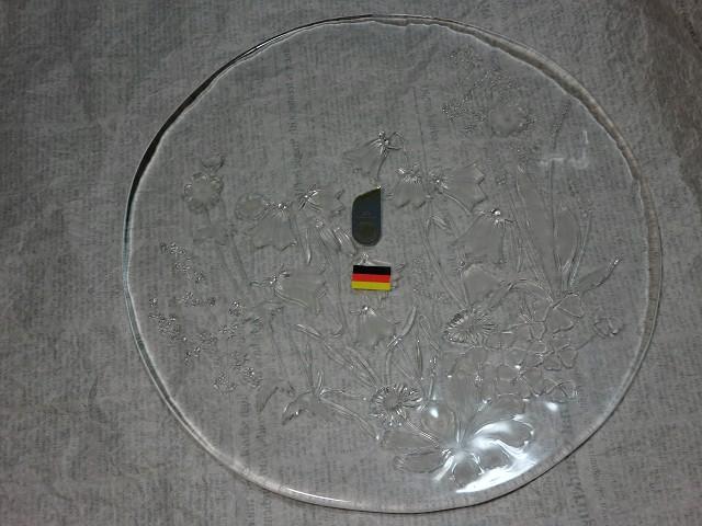 画像1: WALTHER GLAS脚付きガラス製ケーキプレート (1)