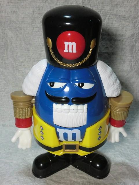 画像1: m&m'sチョコレートディスペンサー・くるみ割り人形・青 (1)