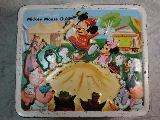 画像1: ミッキーマウスクラブ ランチボックス(白) (1)