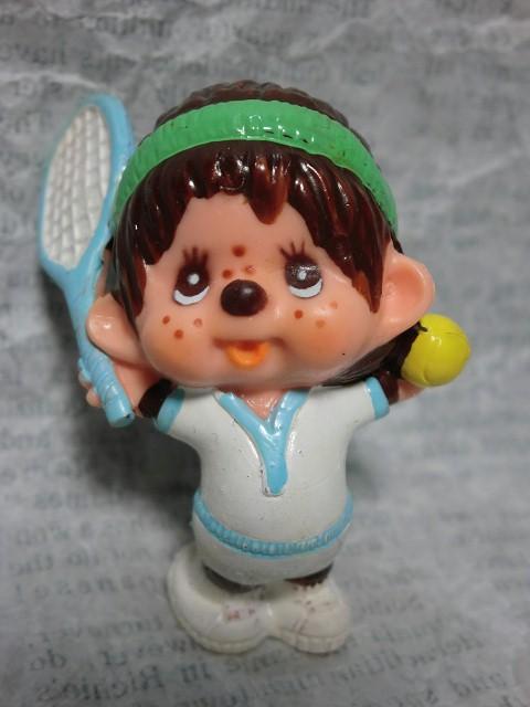 画像1: モンチッチPVCフィギュア・テニス (1)