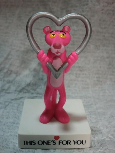 画像1: ピンクパンサー・台付きPVCフィギュア(ハート) (1)