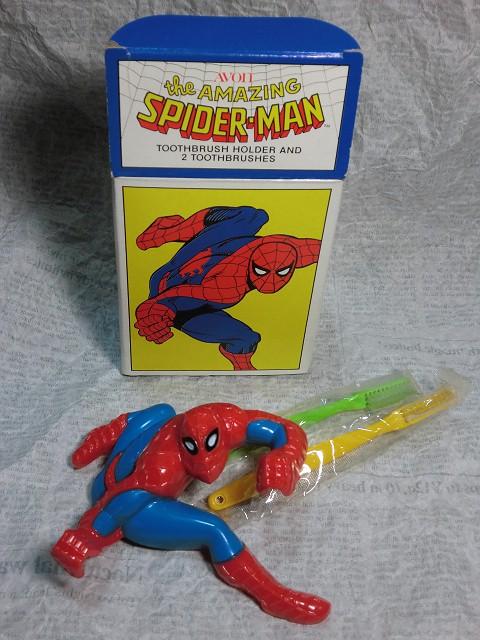 画像1: エイボン・スパイダーマン歯ブラシ&ホルダー (1)