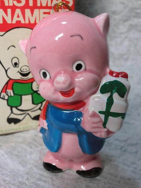 画像1: ポーキーピッグ・クリスマスオーナメント(箱) (1)