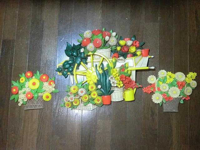 画像1: 花車壁掛け3点セット (1)