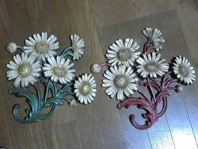 画像1: 白い花の壁掛け (1)