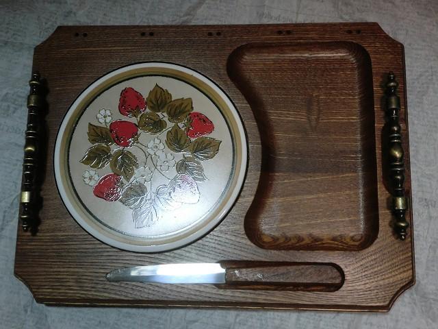 画像1: チーズカッティングボード&ナイフ (1)