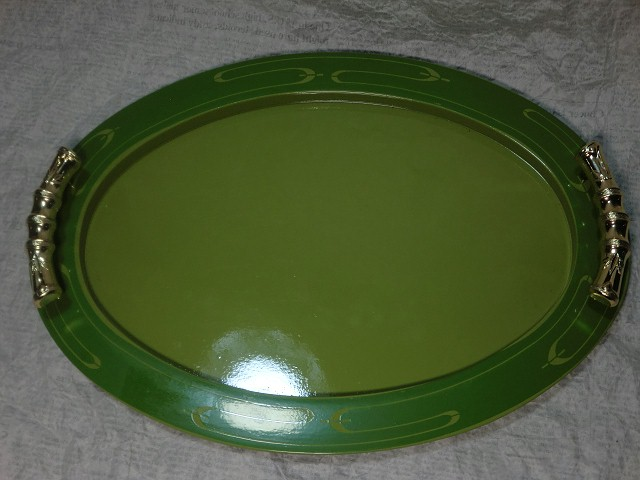 画像1: プラスチック製お盆(グリーン) (1)