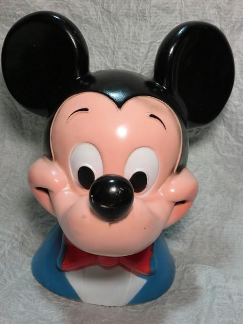 画像1: ミッキーマウス・フェイス貯金箱 (1)