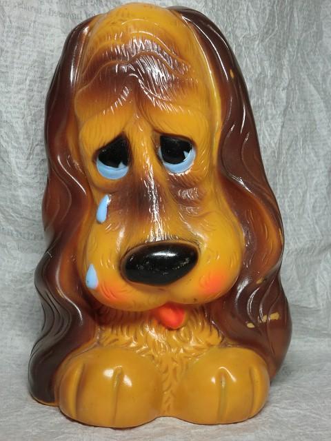 画像1: 犬の貯金箱「涙」 (1)