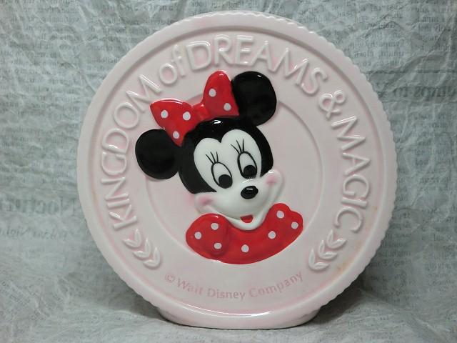 画像1: ミニーマウス・コイン型貯金箱 (1)