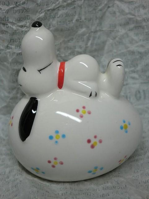 画像1: スヌーピー・貯金箱卵 (1)
