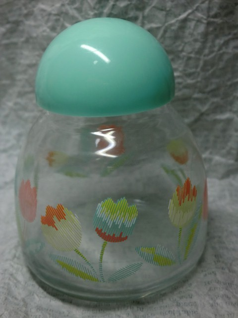 画像1: チューリップ柄瓶 (1)