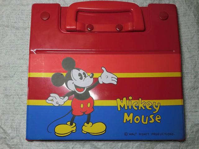 画像1: ミッキーマウス組み立て式ビニールバッグ (1)