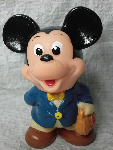 画像1: 三菱銀行ミッキーマウス貯金箱(青) (1)