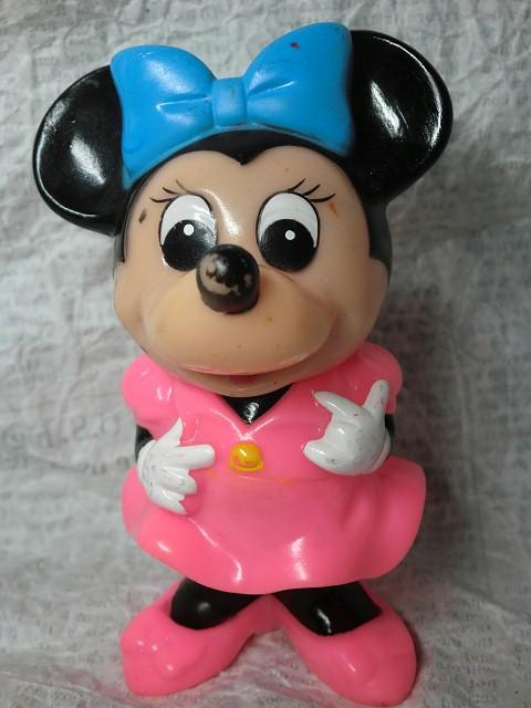 画像1: 三菱銀行ミニーマウス貯金箱 (1)