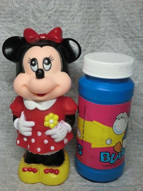 画像1: ミニーマウス・シャボン玉ボトル (1)