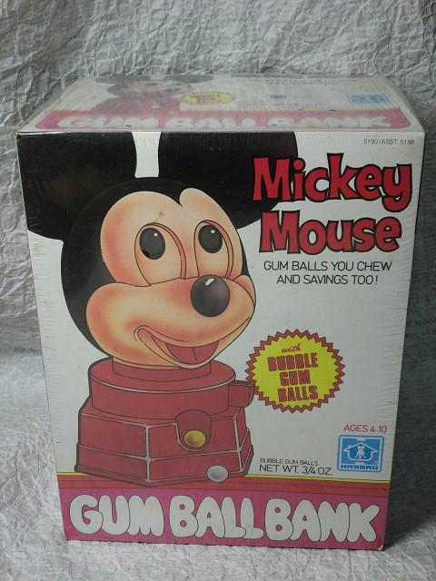画像1: ミッキーマウス・ガムボールディスペンサー箱入り (1)