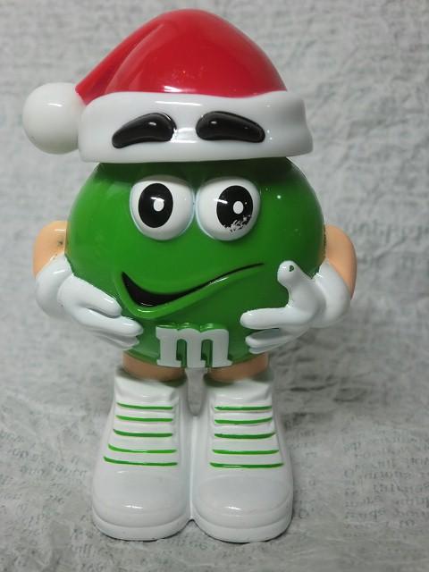 画像1: m&m'ディスペンサー・緑サンタ帽子 (1)