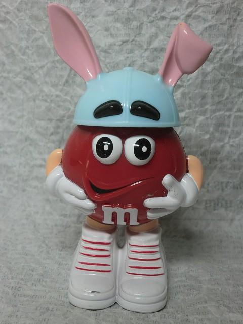 画像1:  m&m'ディスペンサー・赤イースターバニー (1)