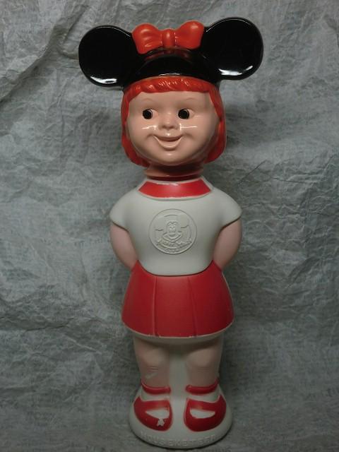 画像1: ミッキーマウスクラブ・ボトル赤 (1)